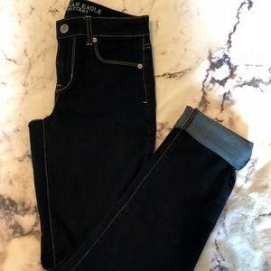 Size 4 AE dark wash skinny jeans